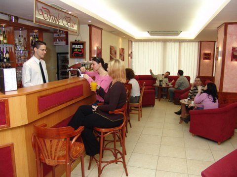 Photo of bar and lounge in budget Budapest hotel
