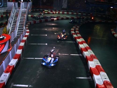 Go karting on Riga indoor track