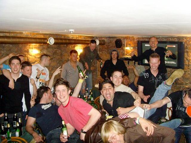 Being silly in a Riga pub