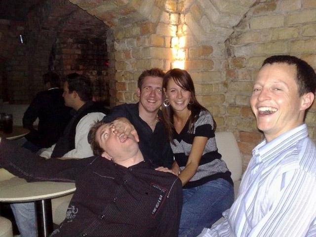 Having a laugh on the Riga pub crawl