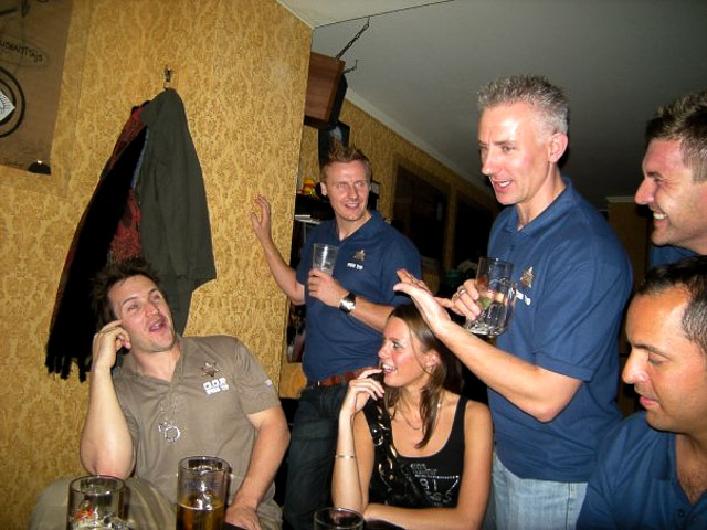 Playing games during the stag pub crawl