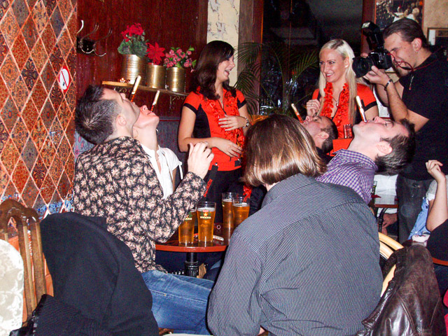 More testtube shots at a Riga bar