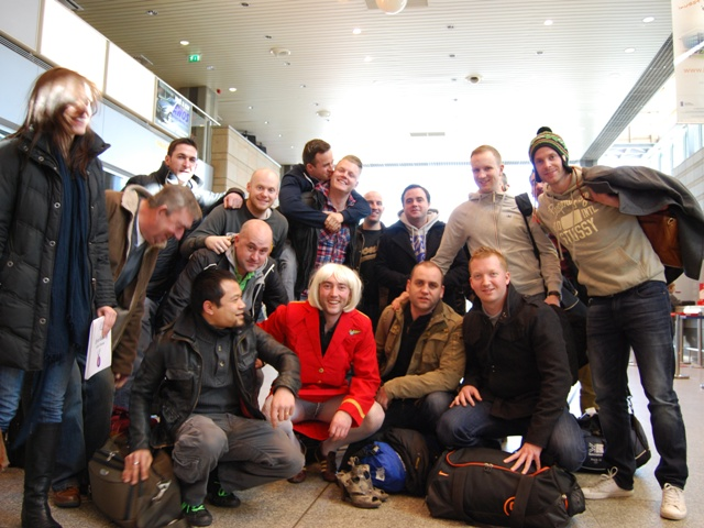 Stag group at the Krakow airport