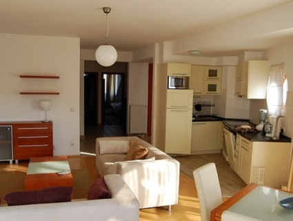 Lounge and kitchen in 3 star Budapest apartment
