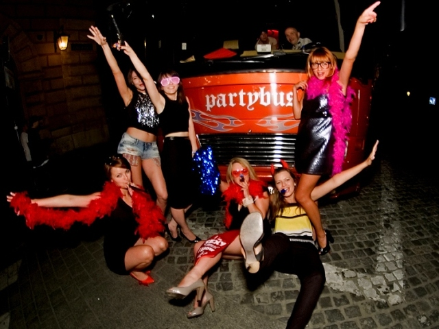 Krakow stag party bus