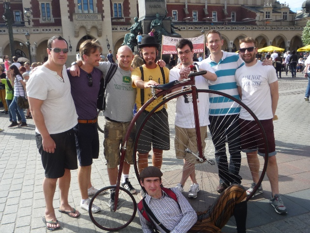 Krakow stag penny farthing