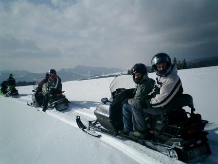 Krakow stag snowmobiles