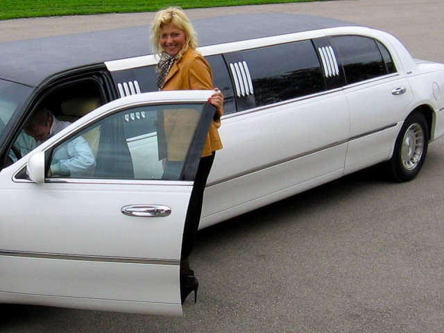 Lovely local Riga guide with white stretch limo