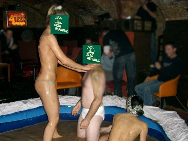 Budapest mud wrestling