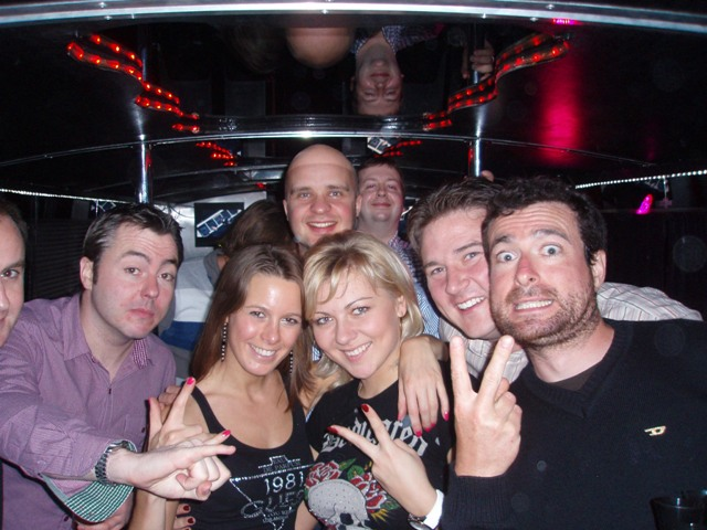 Fun times with Tamara and Elina on Riga party bus