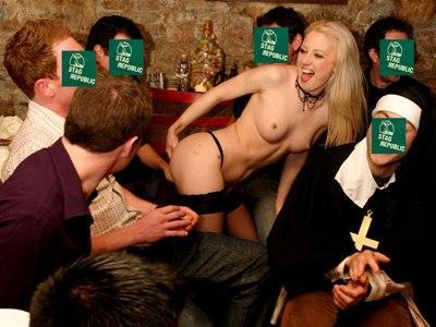 Dinner in a Budapest Wine Restaurant with Stripper