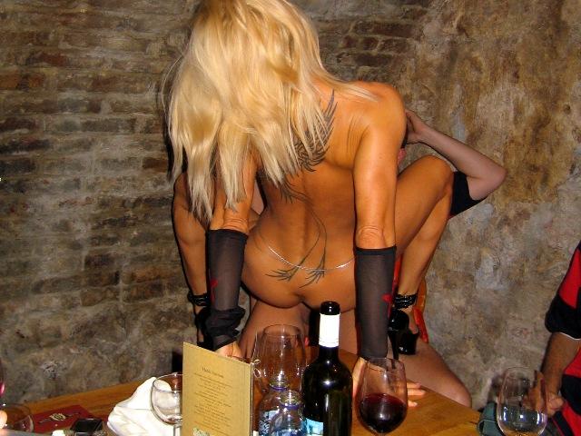 Stripper Dinner with Wine