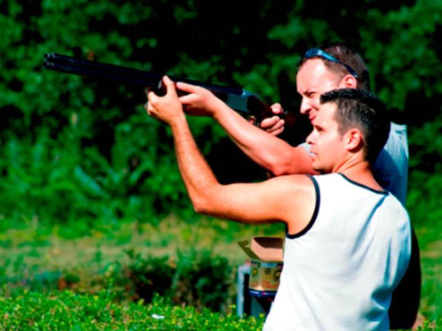 Professional instructors for Riga clay pigeon shoot