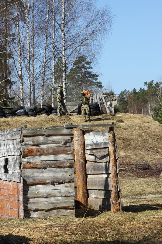 Foxholes and barriers set up on Riga airsoft field