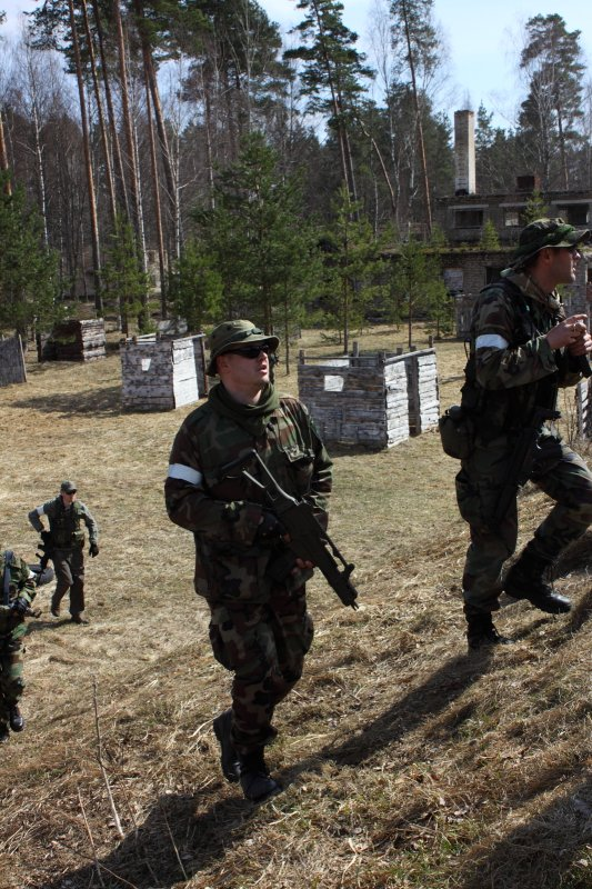 On the airsoft battlefield in Riga