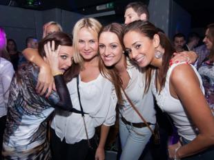 Beautiful Slovak women in a Bratislava night club