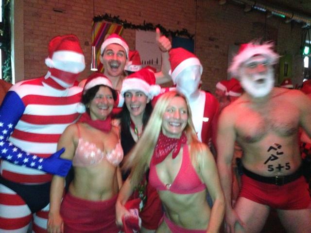 Bikinis, morphsuits, santa hats - all in the name of charity. Budapest Santa Run!