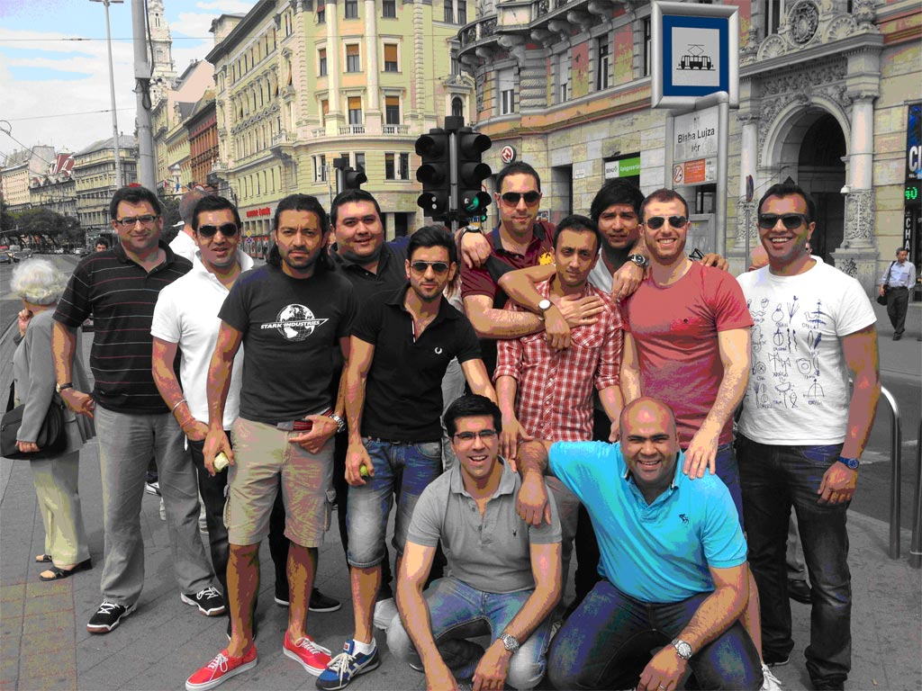 Photo of a big stag group in Budapest