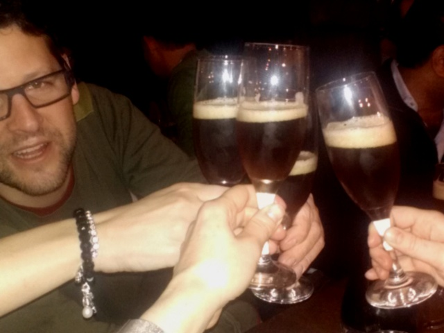 Cheers with beer!