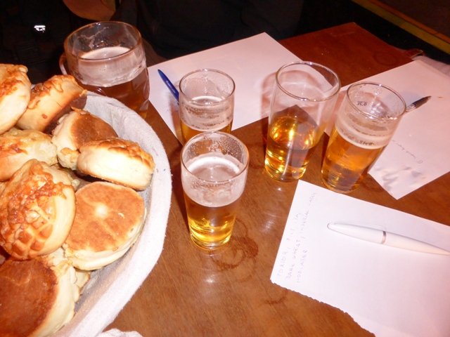 Craft beer tasting with scones and pils