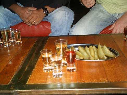 Vodka shots on our stag party vodka tasting tour.