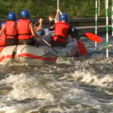 A stag party white water rafting in Krakow