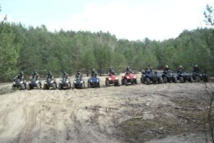 A stag party on quad bikes in Krakow