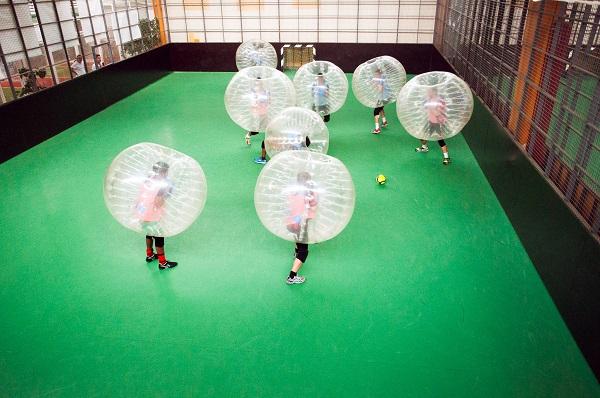 Bubble football activitiy