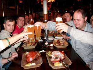 Stags on Brewery dinner in Krakow
