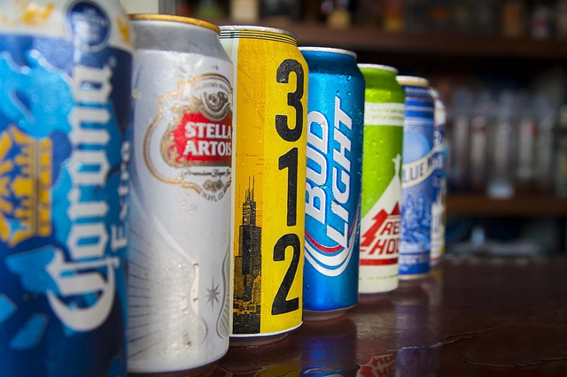 Beer cans drinking game