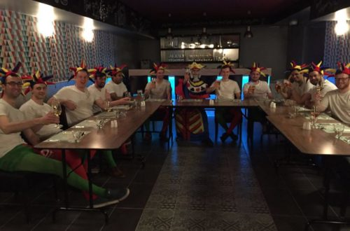 stag group at dinner