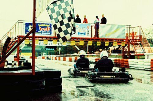 Outdoor go karting track