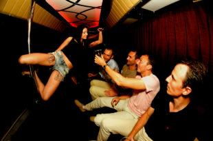 Stripper party bus in Riga