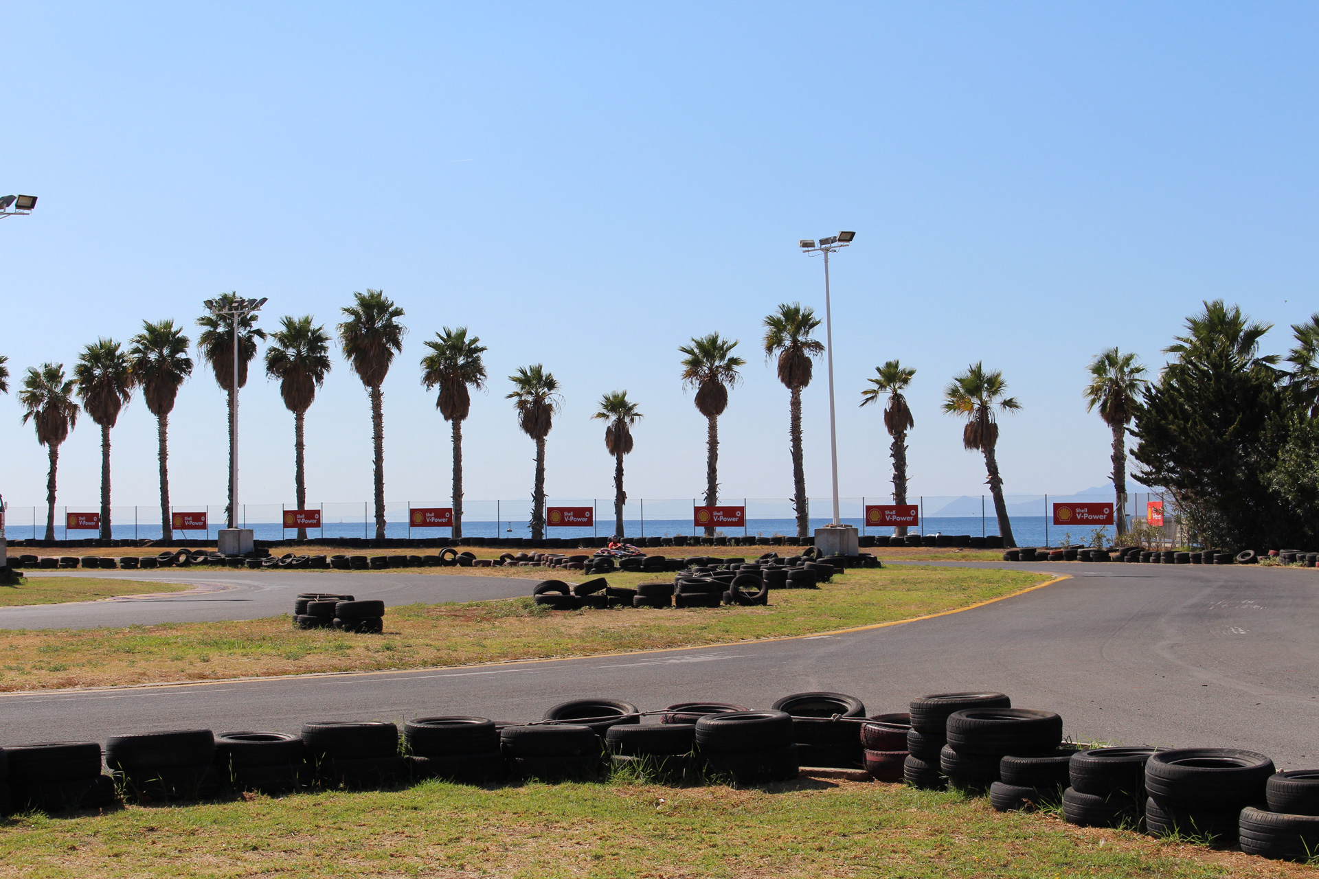 Athens Go Karting stag activity by the Sea