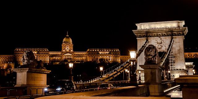 Budapest castle chain bridge
